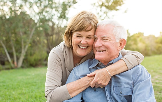 Older couple happy about their medicare enrollment